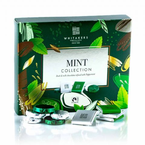 Mint Collection - Assorted Milk & Dark  Whitakers Chocolates Box 170g